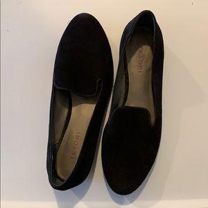 Black Tesori velvet loafer